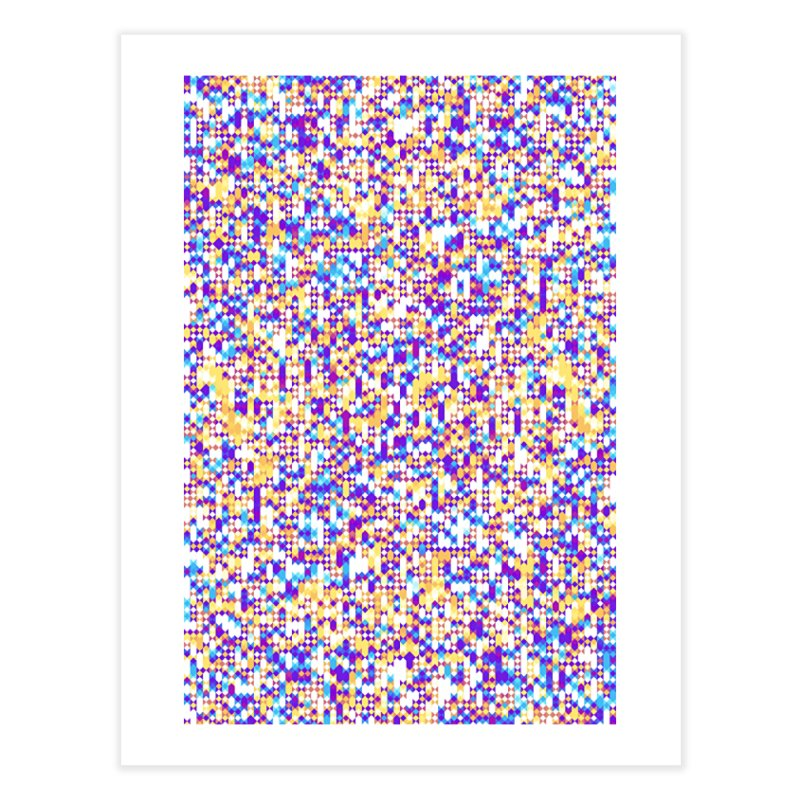 Colorful Geometric Pattern Home Fine Art Print by Art Design Works