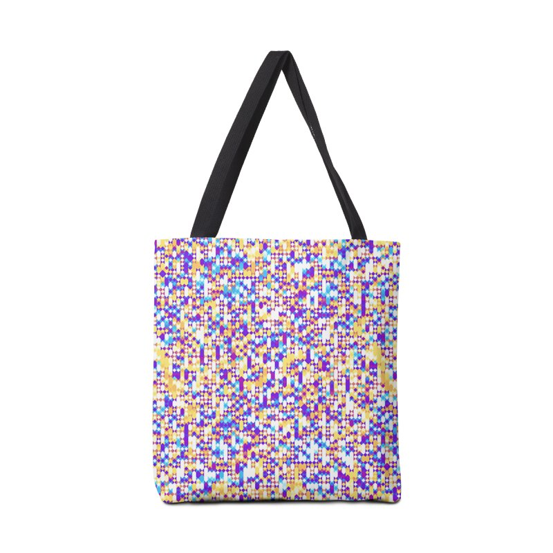 Colorful Geometric Pattern Accessories Bag by Art Design Works