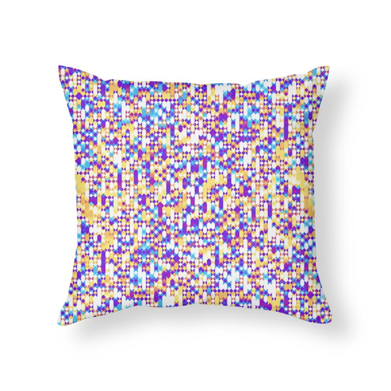 Colorful Geometric Pattern Home Throw Pillow by Art Design Works