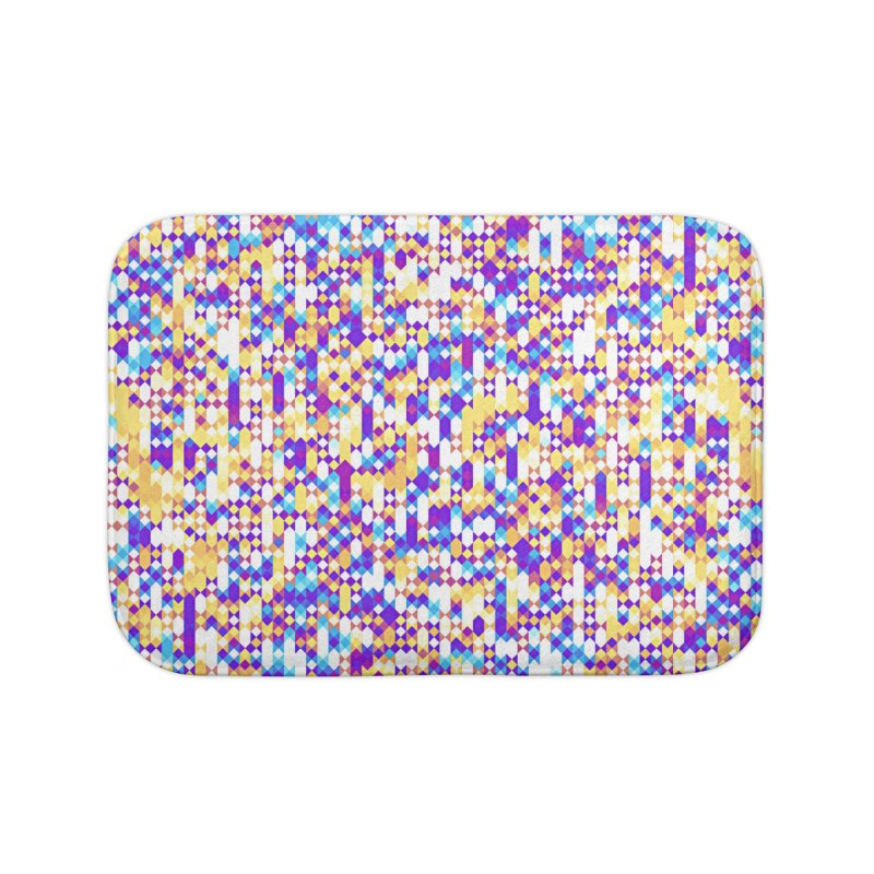 Colorful Geometric Pattern Home Bath Mat by Art Design Works