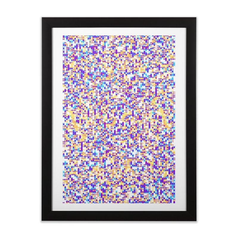 Colorful Geometric Pattern Home Framed Fine Art Print by Art Design Works