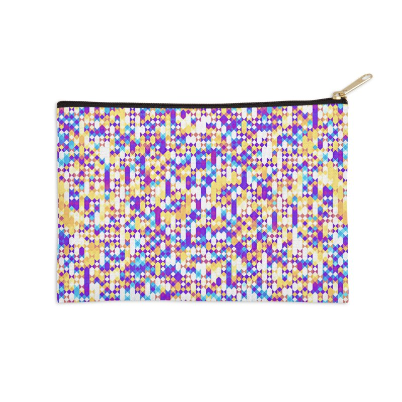 Colorful Geometric Pattern Accessories Zip Pouch by Art Design Works