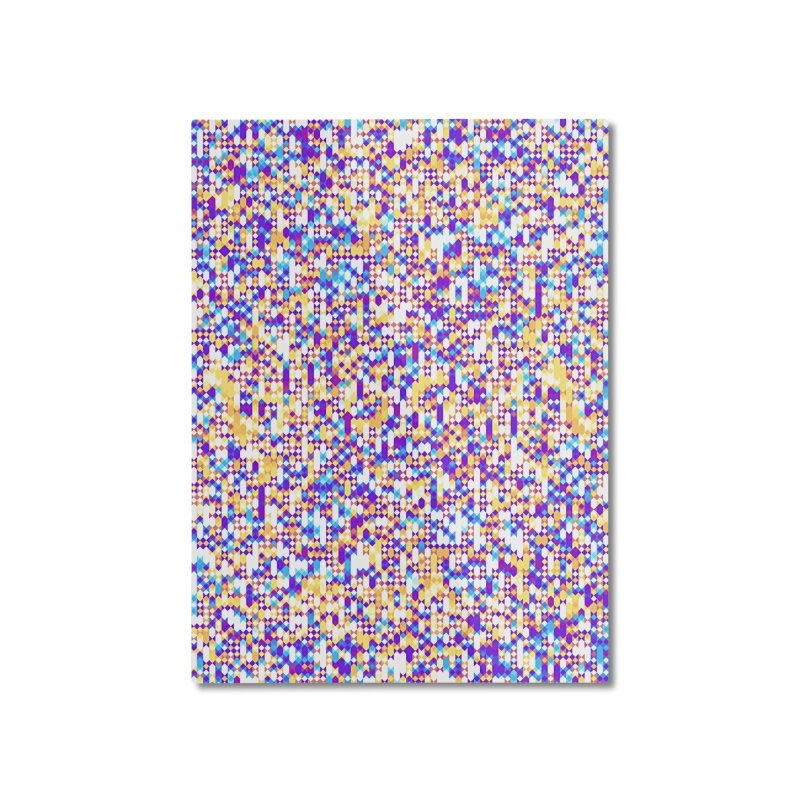 Colorful Geometric Pattern Home Mounted Aluminum Print by Art Design Works