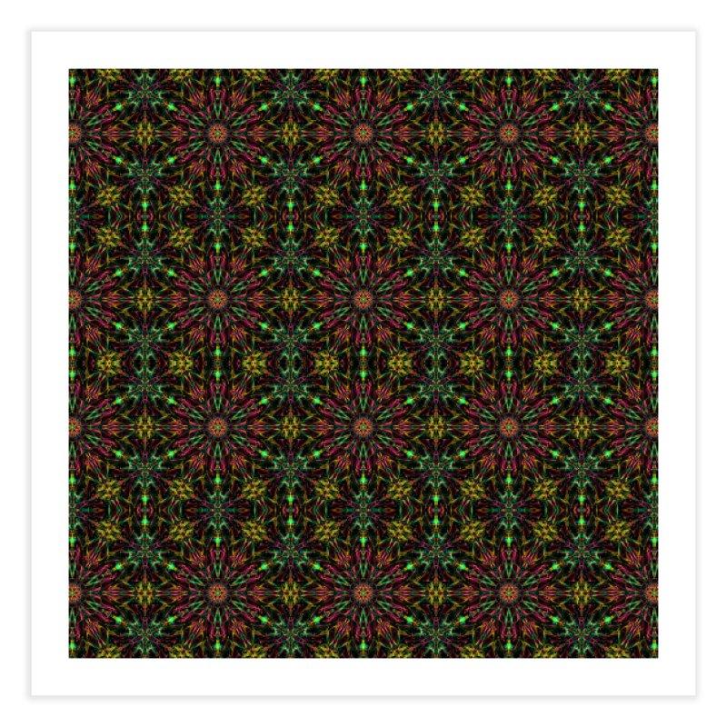 Colorful Mandala Pattern Home Fine Art Print by Art Design Works