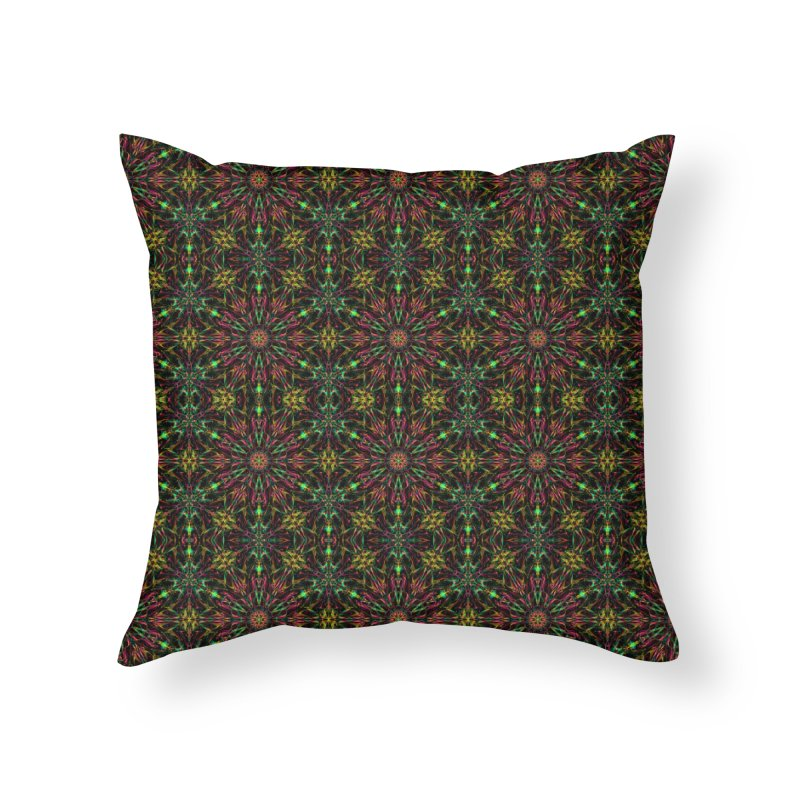 Colorful Mandala Pattern Home Throw Pillow by Art Design Works