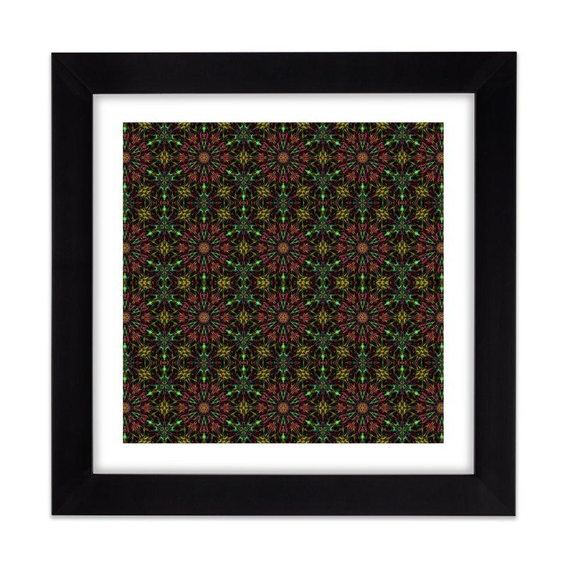 Colorful Mandala Pattern Home Framed Fine Art Print by Art Design Works