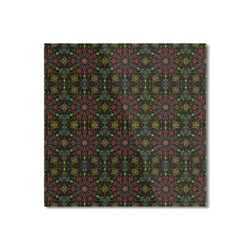 Colorful Mandala Pattern Home Mounted Aluminum Print by Art Design Works