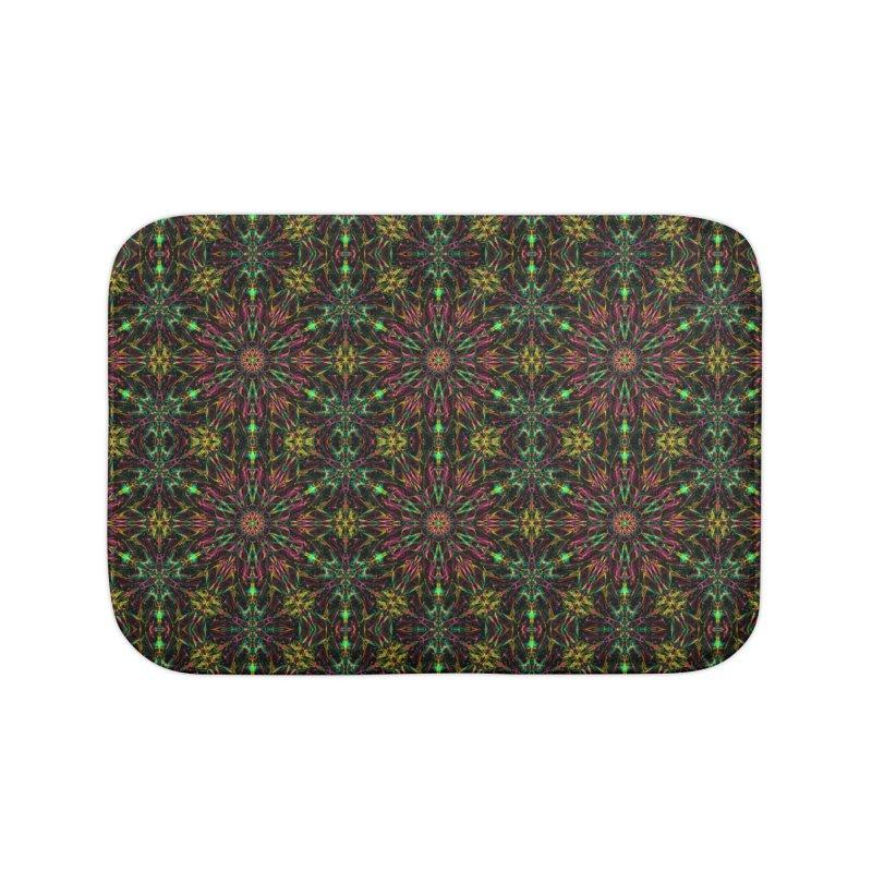Colorful Mandala Pattern Home Bath Mat by Art Design Works