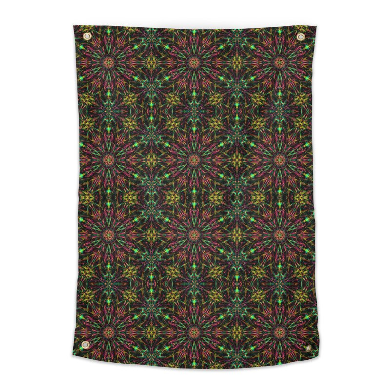 Colorful Mandala Pattern Home Tapestry by Art Design Works