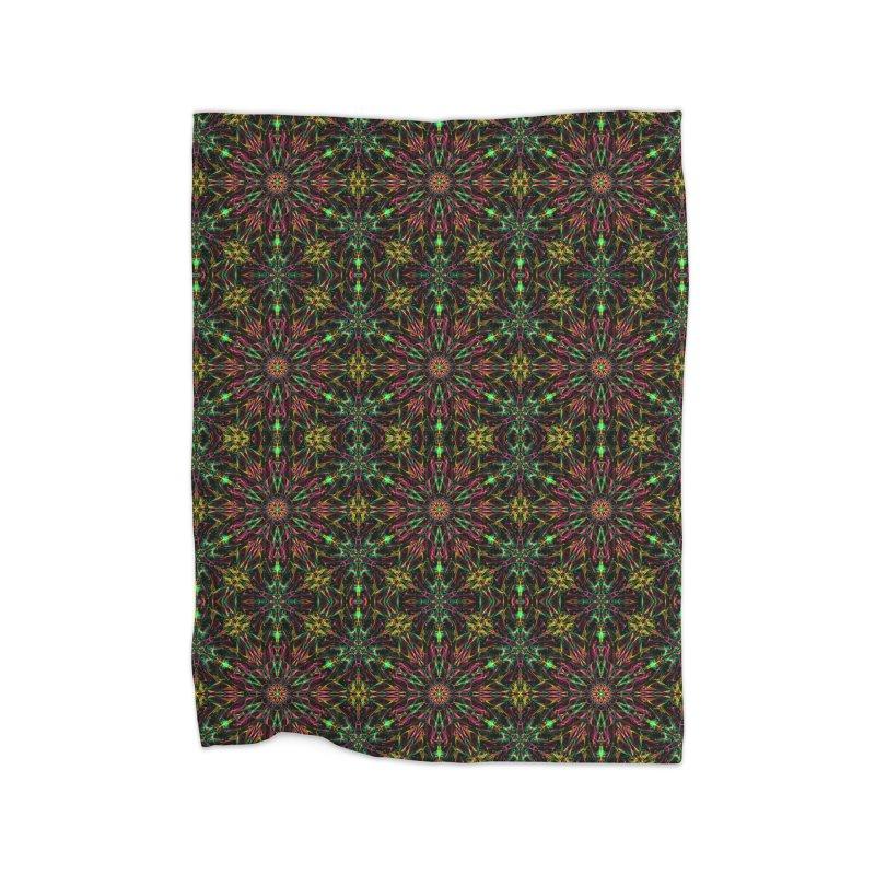 Colorful Mandala Pattern Home Blanket by Art Design Works