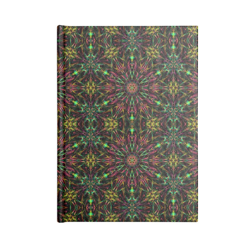 Colorful Mandala Pattern Accessories Notebook by Art Design Works