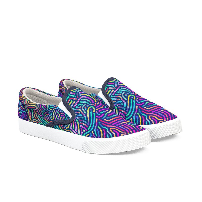 Colorful Pattern Men's Shoes by Art Design Works