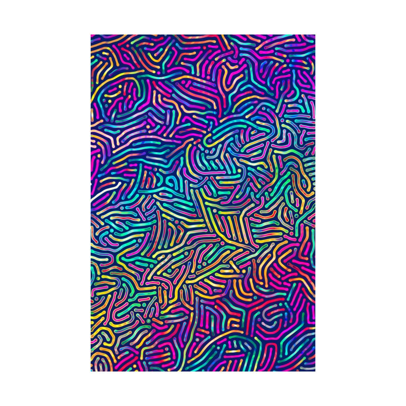 Colorful Pattern Home Fine Art Print by Art Design Works