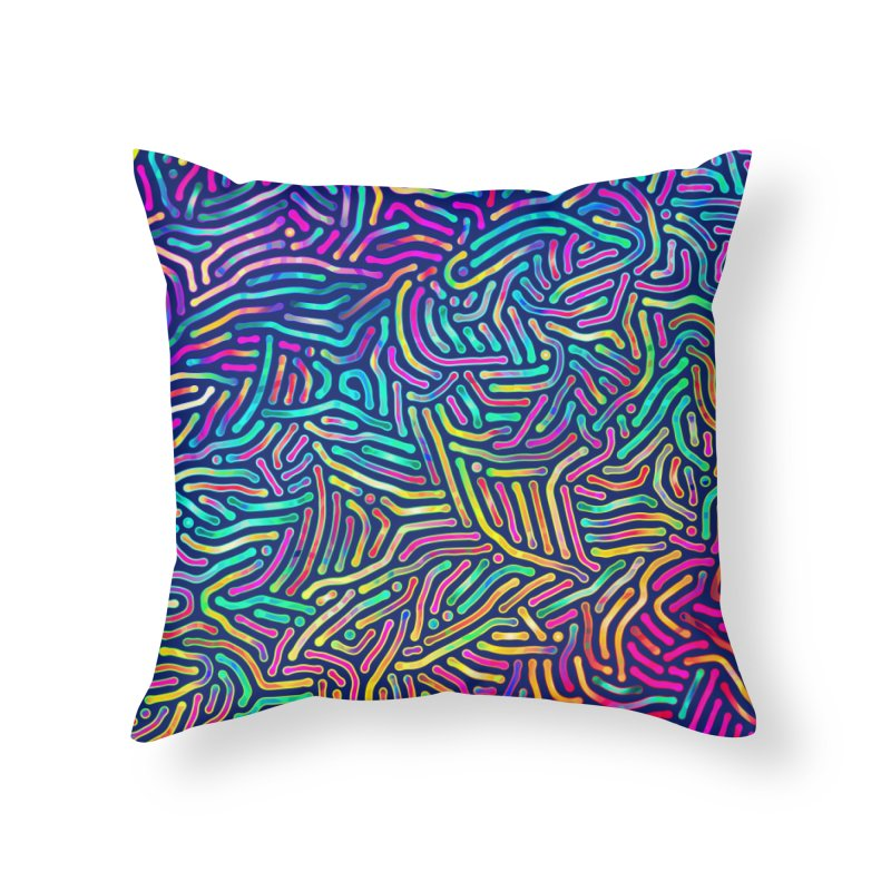 Colorful Pattern Home Throw Pillow by Art Design Works