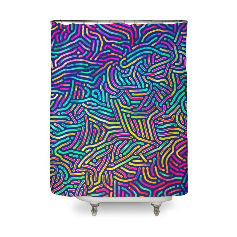 Colorful Pattern Home Shower Curtain by Art Design Works