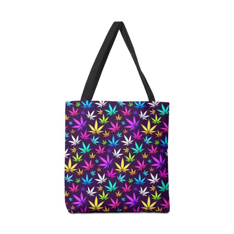 Colorful OG Herb Pattern Accessories Bag by Art Design Works