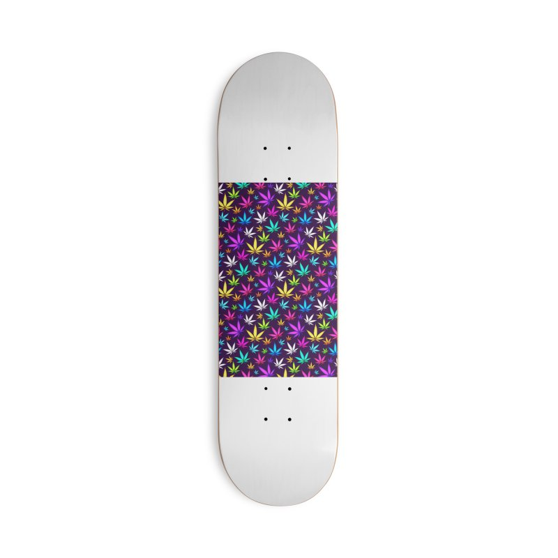 Colorful OG Herb Pattern Accessories Skateboard by Art Design Works