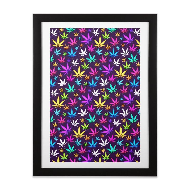 Colorful OG Herb Pattern Home Framed Fine Art Print by Art Design Works