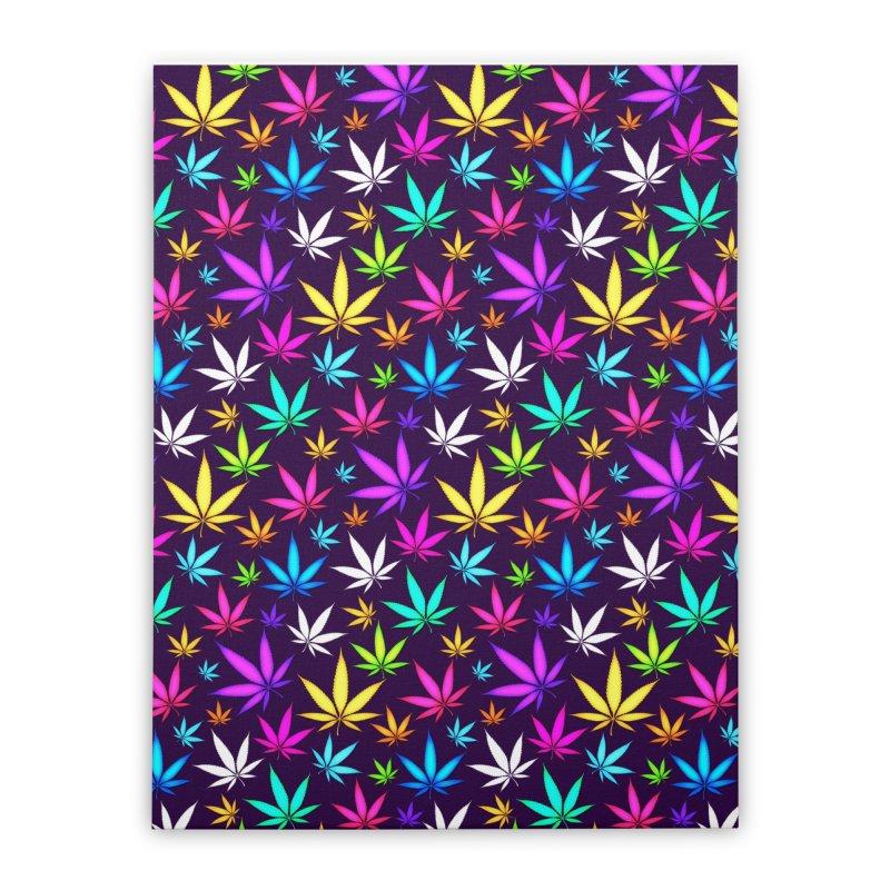 Colorful OG Herb Pattern Home Stretched Canvas by Art Design Works