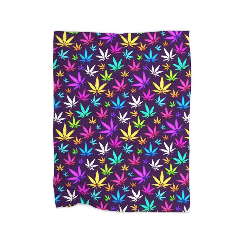 Colorful OG Herb Pattern Home Blanket by Art Design Works