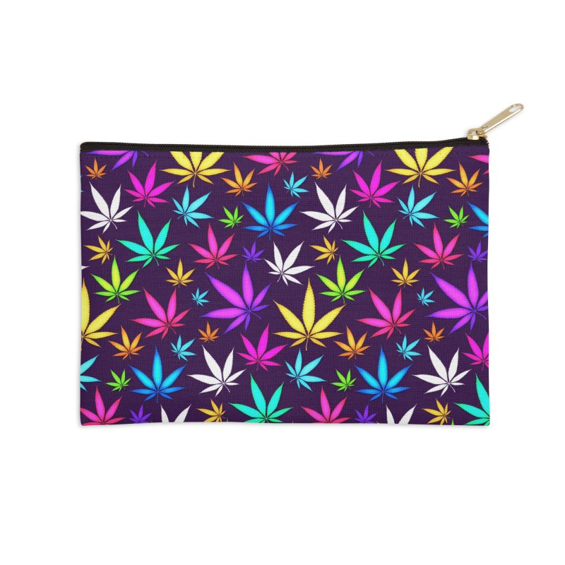 Colorful OG Herb Pattern Accessories Zip Pouch by Art Design Works
