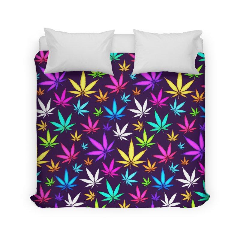 Colorful OG Herb Pattern Home Duvet by Art Design Works