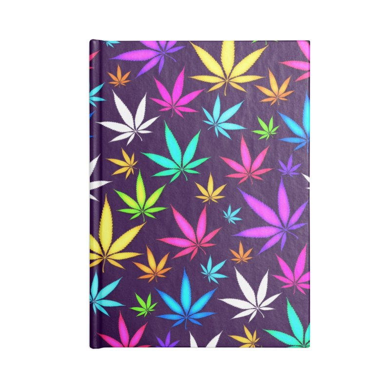 Colorful OG Herb Pattern Accessories Notebook by Art Design Works