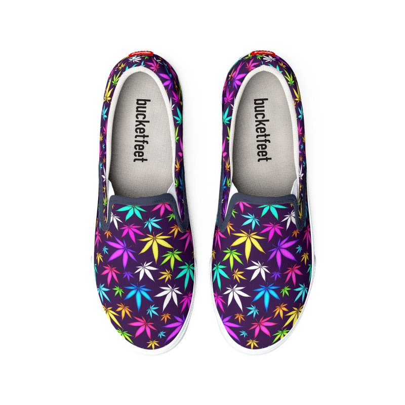 Colorful OG Herb Pattern Women's Shoes by Art Design Works