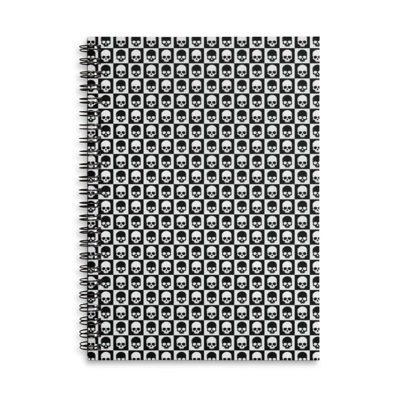 Checkered Skulls Pattern I Accessories Notebook by Art Design Works