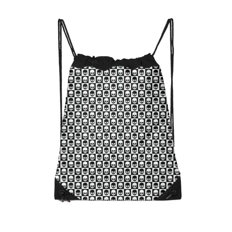Checkered Skulls Pattern I Accessories Bag by Art Design Works