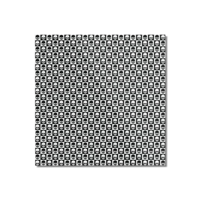Checkered Skulls Pattern I Home Mounted Acrylic Print by Art Design Works