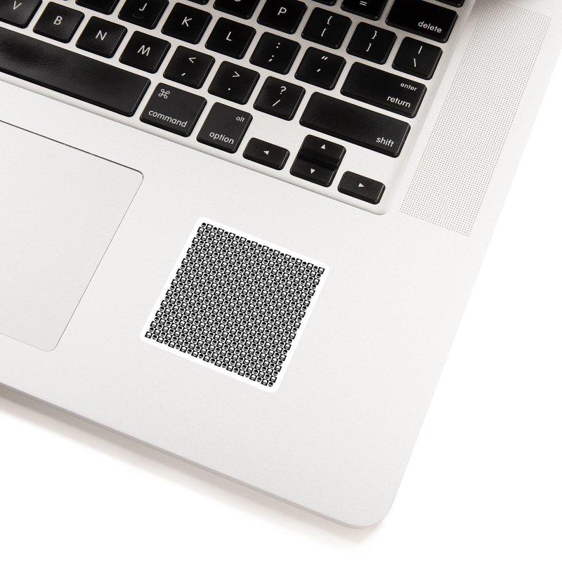 Checkered Skulls Pattern I Accessories Sticker by Art Design Works