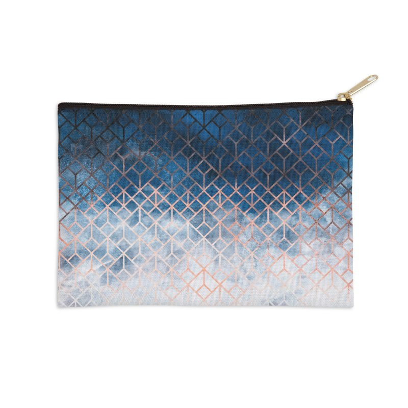 Geometric XII Accessories Zip Pouch by Art Design Works