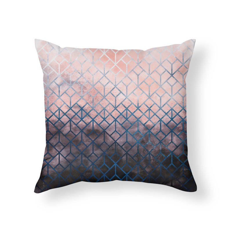 Geometric XI Home Throw Pillow by Art Design Works