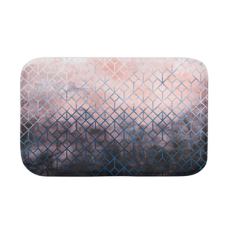 Geometric XI Home Bath Mat by Art Design Works