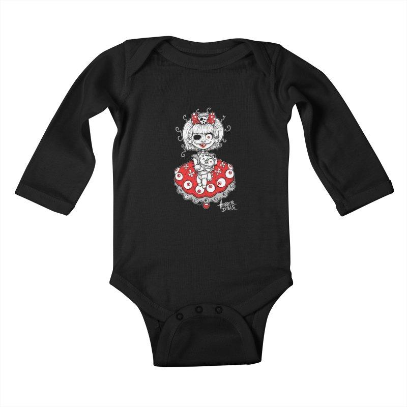Horror Doll No.1 Kids Baby Longsleeve Bodysuit by Artbytobias's Artist Shop