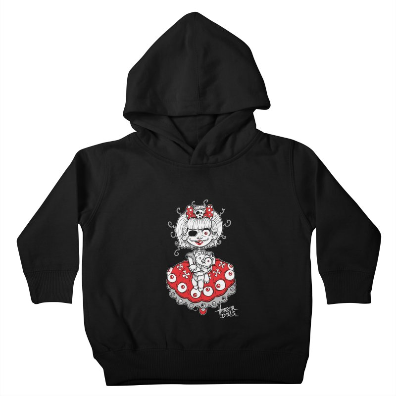 Horror Doll No.1 Kids Toddler Pullover Hoody by Artbytobias's Artist Shop