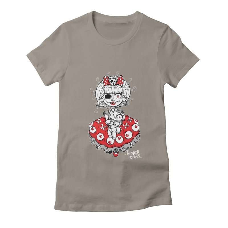 Horror Doll No.1 Women's Fitted T-Shirt by Artbytobias's Artist Shop