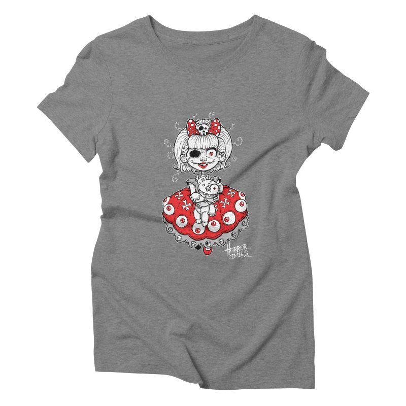 Horror Doll No.1 Women's Triblend T-Shirt by Artbytobias's Artist Shop
