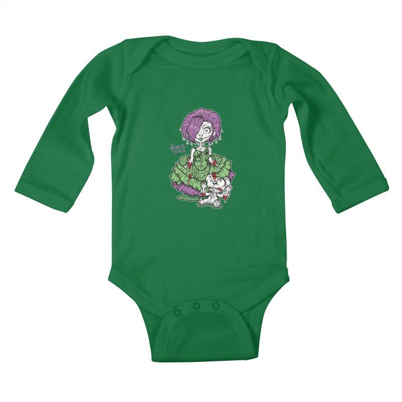 Horror Doll No.2 Kids Baby Longsleeve Bodysuit by Artbytobias's Artist Shop