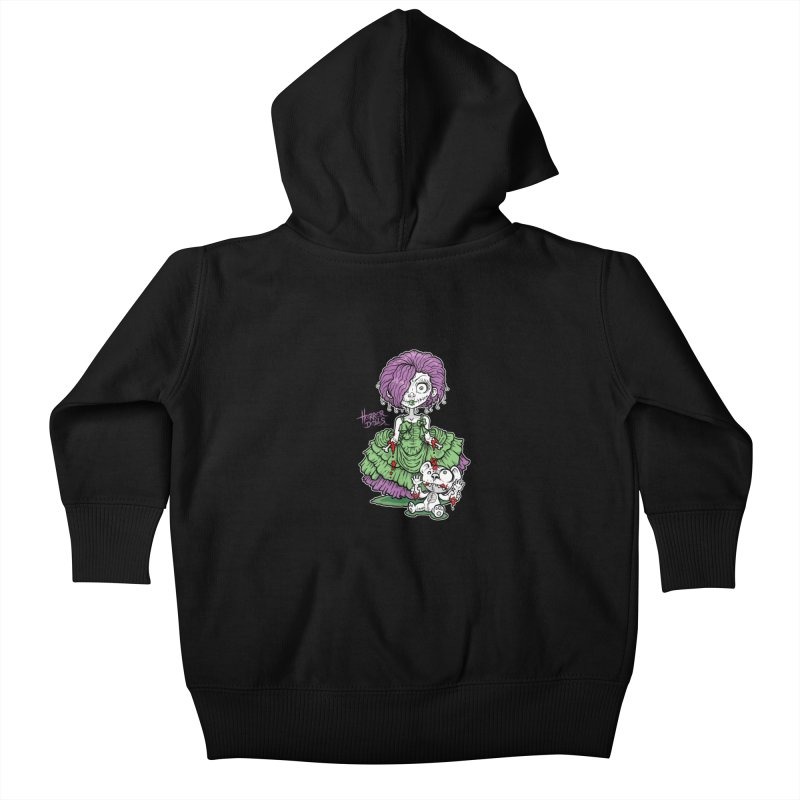 Horror Doll No.2 Kids Baby Zip-Up Hoody by Artbytobias's Artist Shop