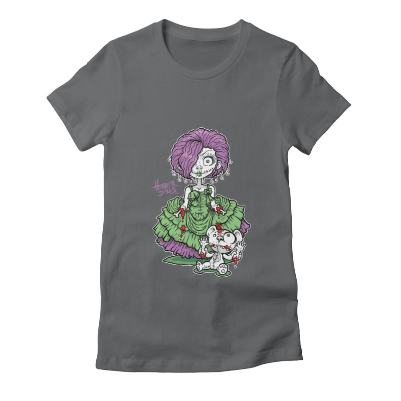 Horror Doll No.2 Women's Fitted T-Shirt by Artbytobias's Artist Shop