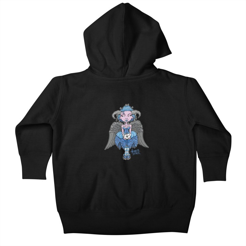Horror Doll No.3 Kids Baby Zip-Up Hoody by Artbytobias's Artist Shop