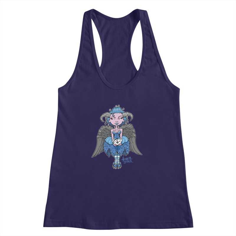 Horror Doll No.3 Women's Racerback Tank by Artbytobias's Artist Shop