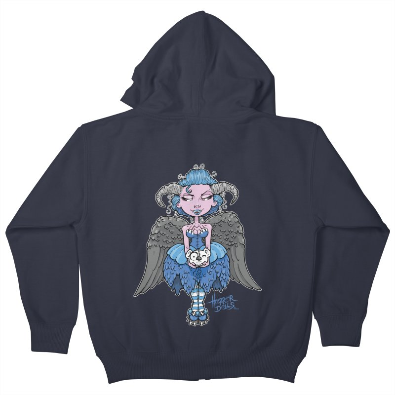 Horror Doll No.3 Kids Zip-Up Hoody by Artbytobias's Artist Shop
