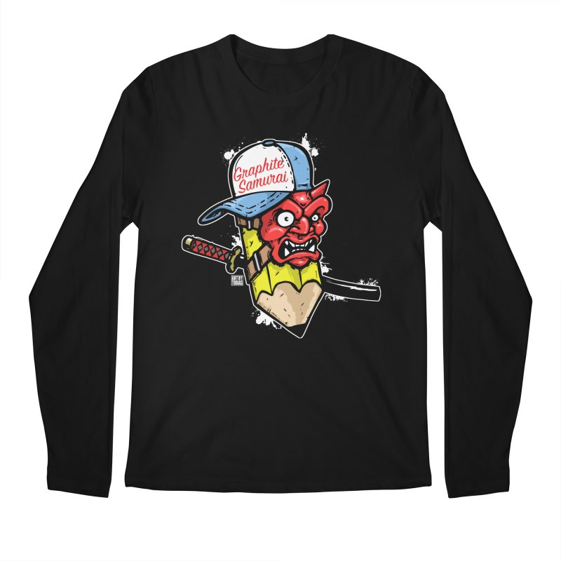 Graphite Samurai 1 Men's Regular Longsleeve T-Shirt by Artbytobias's Artist Shop
