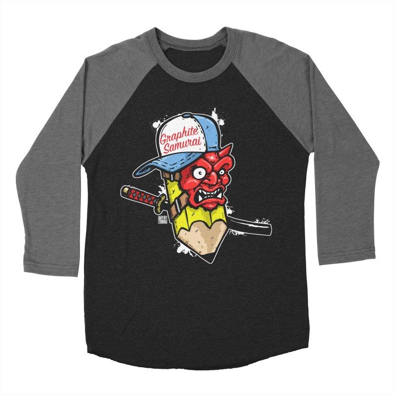 Graphite Samurai 1 Women's Baseball Triblend Longsleeve T-Shirt by Artbytobias's Artist Shop