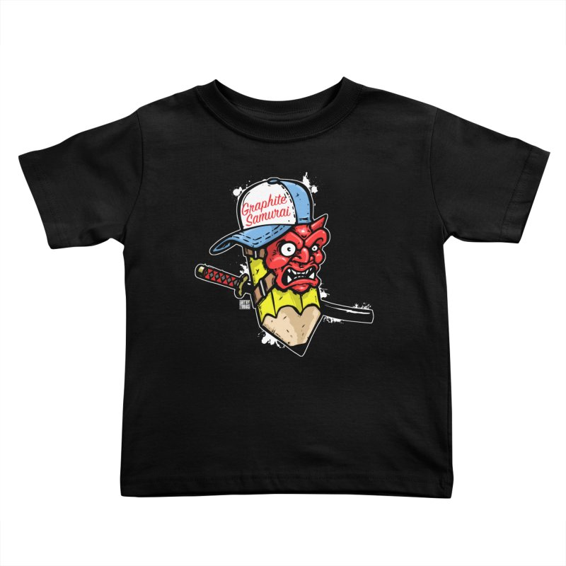 Graphite Samurai 1 Kids Toddler T-Shirt by Artbytobias's Artist Shop
