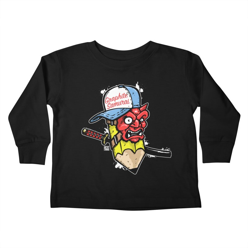 Graphite Samurai 1 Kids Toddler Longsleeve T-Shirt by Artbytobias's Artist Shop