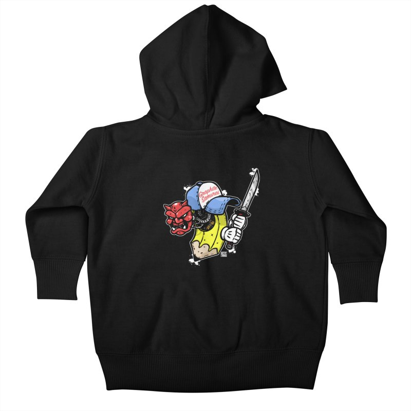 Graphite Samurai 2 Kids Baby Zip-Up Hoody by Artbytobias's Artist Shop